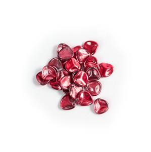 Czech Rose Petal Beads Crystal Pomegranate Metallic Ice, Approx 14x13mm (25pcs)