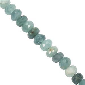 36cts Grandidierite Faceted Rondelles Approx 3.9x2.1mm to 5.2x4.2mm 20cm Strand