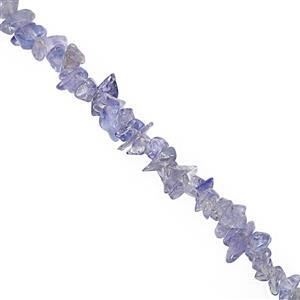 "85cts Tanzanite Bead Nugget Approx 2.5x1.5 to 6x1.5mm, 32"" Strand"