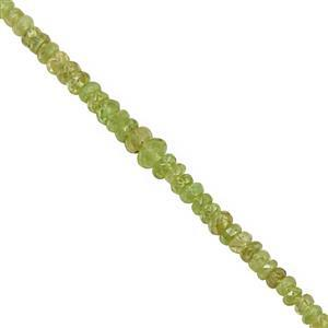 20cts Ambilobe Sphene Graduated Faceted Rondelles Approx 1.5x2 to 4.5x2.5mm, 20cm Strand