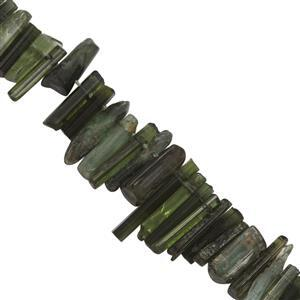 Green Tourmaline Gemstone Strand