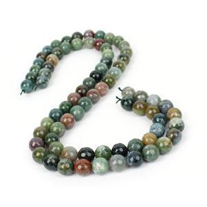 8am Special! 2x 260cts Fancy Jasper (Indian Jasper) Faceted Rounds Approx 10mm, 38cm
