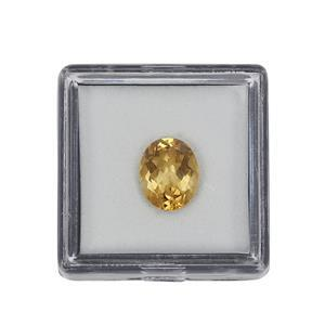 1.75ct Rio Golden Citrine Brilliant Oval Approx 10x8mm (N)