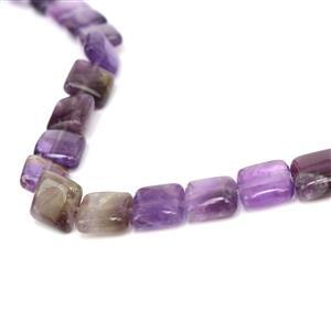 150cts Amethyst Puffy Squares Approx 10mm, 38cm strand