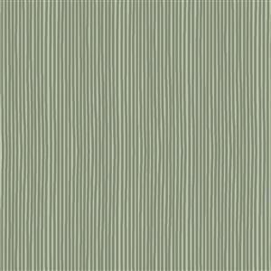 Hannah Basic Green Stripes Fabric 0.5m