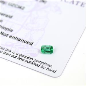 0.5cts Ethiopian Emerald 6x4mm Octagon  (N)
