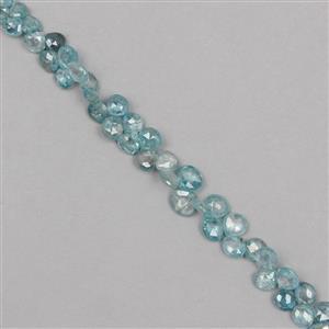 Blue Zircon Gemstone Strands