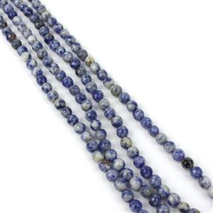 """380cts Blue Jasper Faceted Rounds Approx 6mm, 60"""" Endless Strand"""