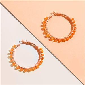 10 Pairs Rose Gold Plated Gemstone Hoop Earrings