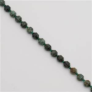 150cts African Jasper Faceted Satellite Beads Approx 10x9mm, 38cm