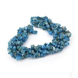 "956cts Neon Apatite Small Nugget Chips Approx 4x7 to 5x8mm, 100"" Endless Chips Strands"