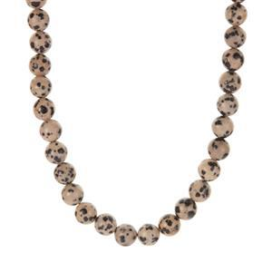 Dalmatian Jasper Necklace in Sterling Silver 224.70cts