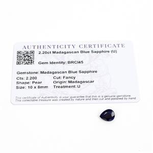 2.2cts Madagascan Blue Sapphire 10x8mm Fancy  (U)