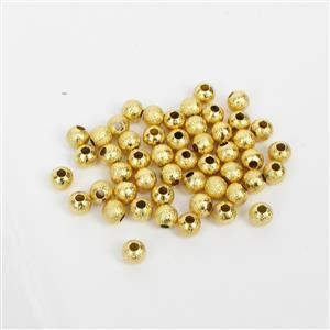 Gold Plated Stardust Base Metal Spacer Beads, 4mm (50pk)