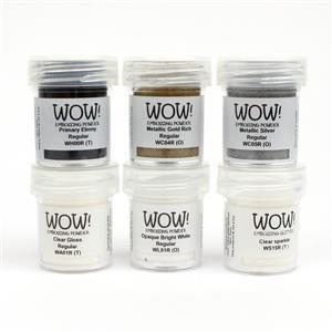 Wow Kit -  Embossing Powder Starter Kit, 6 x 15 ml Jars