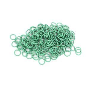 Silver Plated Sea Green Pastel Coloured Copper Open Jump Rings Approx 6mm (200pcs)