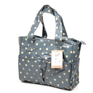 Blue/White Polka Dot Craft Bag (PVC)