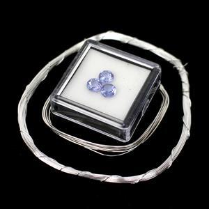December Birthstone Kit with Tanzanite and 925 Sterling Gallery Wire Supply Kit