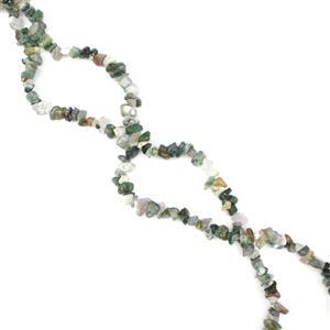 """283cts Fancy Jasper Small Nuggets Chips Approx 4x7 - 6x10mm, 33""""-34"""" Strand"""