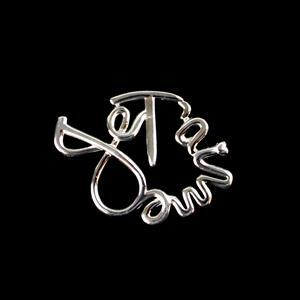 925 Sterling Silver Je T'aime Heart Shape Pendant 20x27mm