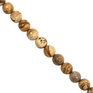 205cts Picture Jasper Faceted Round Approx 10 to 10.50mm, 30cm Strand
