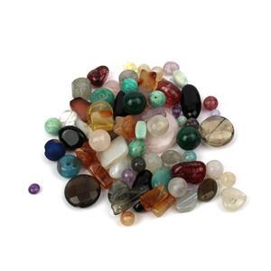 Multi Quartz,Multi Agate, Multi Amazonite assorted shapes & Sizes Loose Beads Approx 200g