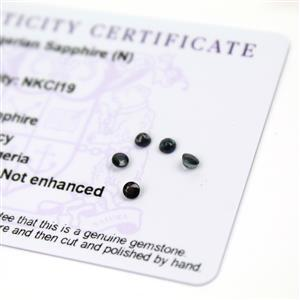 0.65cts Nigerian Sapphire 3x3mm Fancy Pack of 5 (N)
