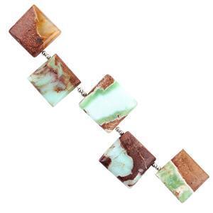 Bi Coloured Green Opal Gemstone Strands
