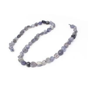 "135cts Iolite Medium Nuggets Approx 6x7 to 7x12mm, 15"" Strand"