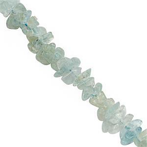 400cts Aquamarine Bead Nugget Approx 4x1 to 7x3mm, 2.5m Strand