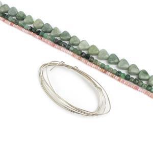 Pink & Green Should Always Be Seen Kit; Jade, Emerald & Opal