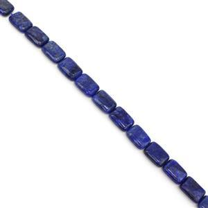 210cts Dyed Lapis Lazuli Puffy Rectangles Approx 14x10mm, 38cm Strand