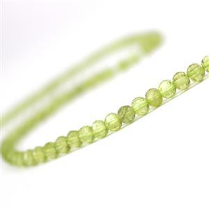 35cts Peridot Faceted Lantern Beads Approx 4x3mm, 38cm