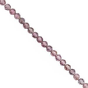 15cts Shaded Purple Spinel Micro Faceted Round Approx 2mm, 38cm Strand