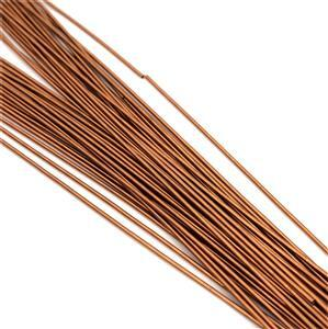 "12"" Antique Copper Colour Copper French Wire Approx. 0.70mm (20pcs)"