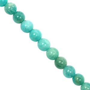 82cts Amazonite Smooth Round Approx 6 to 8mm, 20cm Strand