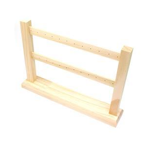 Wooden Earring Display Stand (20pairs), 30x6x21cm (1pc)