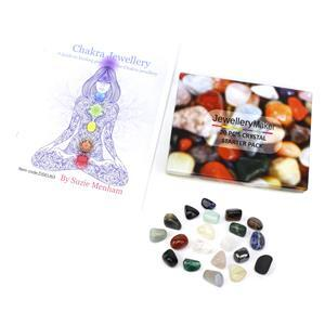 A Guide to Healing Gemstones for Chakra Jewellery 20 pcs Tumbles & Booklet by Suzie Menham
