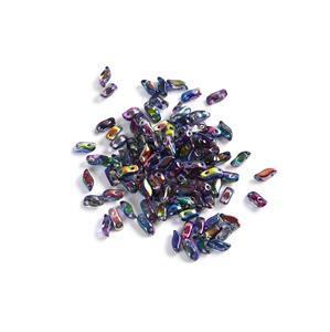 StormDuo Beads Crystal Magic Blue, Approx 3x7mm (100pcs)