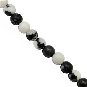 105cts Zebra Jasper Smooth Round Approx 6mm, 37cm Strand