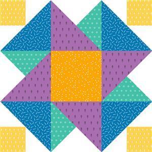John Cole-Morgan's BOW Block 7: Rainbow 'Moving on Up' Quilt Kit: Instructions & Panel