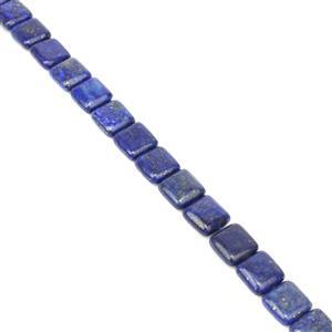260cts Dyed Lapis Lazuli Puffy Squares Approx 12mm, 38cm Strand