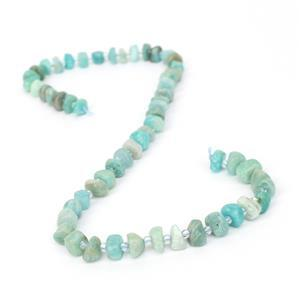 130cts. Amazonite Irregular central drill Nuggets Approx 8x4~10x8mm, 38cm strand