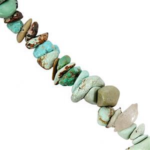 85cts Turquoise Bead Nuggets Approx 2x1 to 7x2mm, 82cm Strand