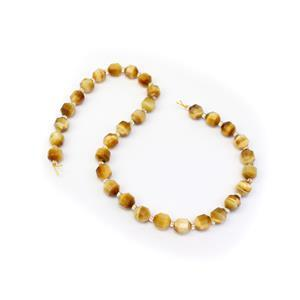 175cts Dyed Golden Tiger Eye Faceted Satellite Beads Approx 9X10mm, 38cm Strand