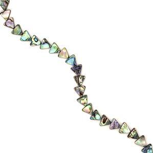 Abalone Triangles Approx 12mm, 38cm strand