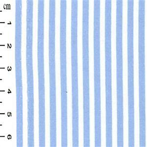 Pale Blue Thin Stripes on White Fabric 0.5m