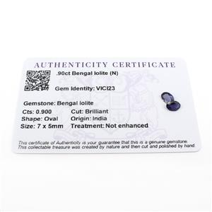 0.9cts Bengal Iolite 7x5mm Oval Pack of 2 (N)