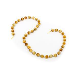 105cts Dyed Golden Tiger Eye Faceted Satellite Beads Approx 7x8mm, 38cm