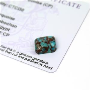 4.3cts Egyptian Turquoise 12x10mm Octagon  (CP)